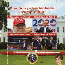 Chad Donald Trump Stamps 2020 MNH US Presidential Elections Presidents 4v M/S