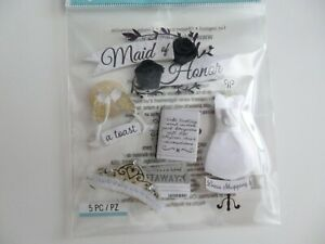 """Jolee's Boutique 5 pcs """"Maid of Honort"""" Embellishments Stickers"""
