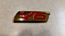 New Genuine OEM Gold V6 emblem 08F20-SDN-100B Accord