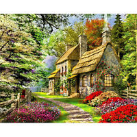 Home Art Decor Canva Paint By Number Kit Digital Oil Painting DIY House No Frame