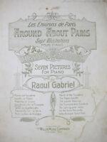 Around About Paris 1903 Sheet Music Raoul Gabriel L' Arc de Triomphe Scottische