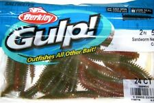 "Berkley Gulp! Saltwater Fishing Lure 2"" SANDWORM GSSW2-C Camo"