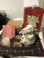 NIB Lenox For The Holidays Bright Christmas Angel Votive Candle Holder Porcelain