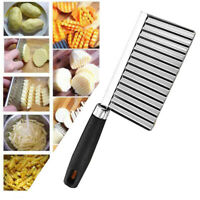 Long Crinkle Veggie Potato Chip Cutter With Wavy Blade French Fry Kitchen Tools