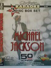 Chartbuster Karaoke CDG Michael Jackson (5130) 3 DISC BOX SET 50 TRACCE NUOVO