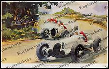 orig. Farbtafel Mercedes-Benz Silberpfeil W 125 Nürburgring Motorsport Auto 1937