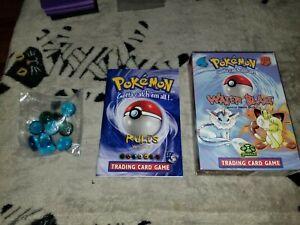 Empty Vintage Pokemon Trading Card Game Water Blast Theme Deck Box No Cards