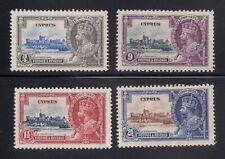 Cyprus  1935  Sc # 136-39  Silver Jubilee   MNH   (3-4419-1)