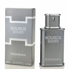 Yves Saint Laurent Kouros Silver Men Eau De Toilette 1.6 oz ~ 50 ml EDT Spray