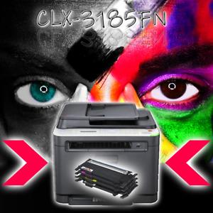 SAMSUNG 4 in 1 Farblaserdrucker CLX-3185FN FAX LAN inkl. neue Toner