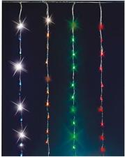 240 LED Waterfall Curtain Lights Multi Xmas Indoor Outdoor Christmas Decorations