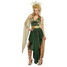 NEW 3pc SULTRY MEDUSA WOMEN'S COSTUME DRESS GOWN SNAKE CROWN HEADBAND THEATER S
