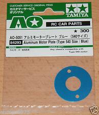 Tamiya 84293 Aluminum Motor Plate (Type 540 Size/Blue) (TT01/TT02/M05/M06/TA02)
