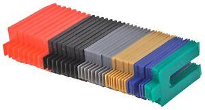 Distanzplättchen Unterlegkeile 48 tlg. 1 - 6 mm Montagekeile Verlegekeile 101606
