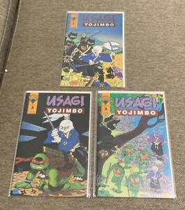 Usagi Yojimbo 1-3 (lot Of 3) Mirage Publishing, Teenage Mutant Ninja Turtles