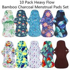 10 Pack Waterproof Reusable Cloth Menstrual Sanitary Pads Feminine Care Set