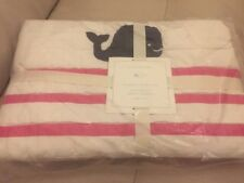 Pottery Barn Kids Multi Colors Hamptons Whale Baby Toddler Crib Quilt Pink Navy