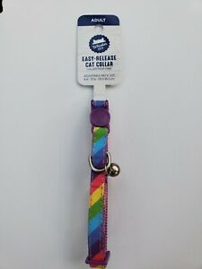 Whisker City Easy Release Cat Collar - Rainbow 🌈