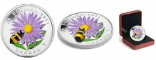 Canada $20 Fine Silver Coin - Aster with Venetian Glass Bumble Bee (2012)