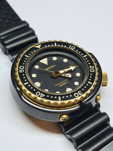 SEIKO 7C46 GOLDEN TUNA WATCH 1000M DIVERS CERAMIC BEZEL BOXED WITH PAPERS