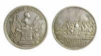 s296_1) Prussia Federico II 1740-1786 Medaglia 1742 vittoria Chottusitz mm 33 AG