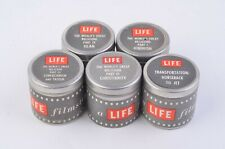 5X ORIGINAL LIFE MAGAZINE 35mm PATHESCOPE FILMSTRIP MOVIES IN CANNISTERS