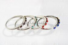 10pcs Wholesale Lots Jewelry CZ Rhinestone Silver plated Rings Free Shipping
