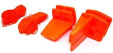 18m Brick Laying Line & Blocks & 2 L Shaped Corner  Blocks Hi Vis TZ BL208