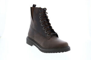 Harley-Davidson Anslee D84574 Womens Brown Leather Lace Up Motorcycle Boots