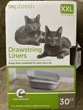 """🔥So Phresh Drawstring Cat Litter Box Liners Xxlarge 30 Count (21"""" L x 43"""" W)🔥"""