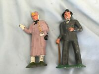 Antique Vintage Manoil Barclay Metal Figure Figurine Man & Woman #618 #619