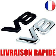 Auto Metal 3D V8 Logo Engine Rear Car Chrome V8 Emblem Sticker Wing
