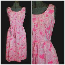 Vintage 70's Lilly Pulitzer Pink She's A Fox Cotton Sundress Dress XS Self Belt