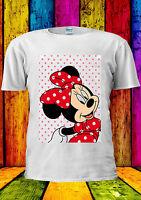 Disney Minnie Mouse Mickey Cute Girl T-shirt Vest Tank Top Men Women Unisex 373