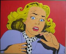 BOO !, ACRYLIC ON CANVAS  BOARD PAINTING