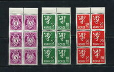 Norway  1940/1  #190, 192, 196  booklet panes definitives  MVLH  G302