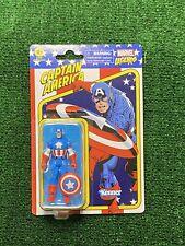 "Captain America 3.75"" Hasbro Marvel Legends Kenner  Retro Action Figure"