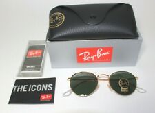 New Ray-Ban Classic Round Metal RB3447 50MM Gold G-15 001 Oval Sunglasses