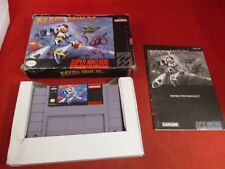Mega Man X (Super Nintendo 1993) SNES COMPLETE w/ Game manual DAMAGED BOX