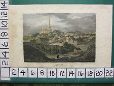 C1815 Antiguo impresión ~ Tetbury ~ glocestershire Gloucestershire Mano De Color