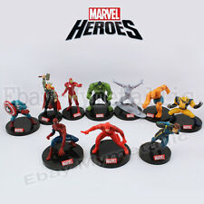 10pcs The Avengers Heroes Iron Man Spiderman Hulk Thor Thing 7-11cm PVC Figure