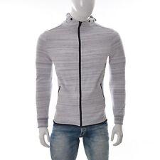 Primark Herren Langarm Reißverschluss Kapuze Runder Saum Rücken Pullover Größe M