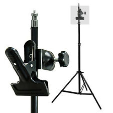 Photography Photo Studio C-Clamp Mount with Rubber Holder Clamp Light Stand