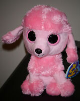 "ST* Ty Beanie Boos - PRINCESS the Pink Poodle Dog (Solid Eyes) 6"" MWMT (STICKER)"