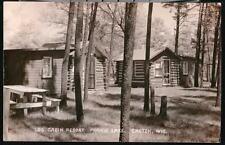 CHETEK WI Prairie Lake Log Cabin Resort RPPC Postcard