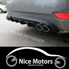 DUAL Exhaust Rear Diffuser Cover (Fit:Hyundai Accent Solaris Verna 2011-2014)