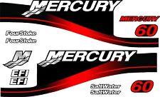 MERCURY 60 outboard moteur Stickers Décalque kit moteur