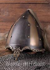Rus-Helm mit Pferdehaarbusch Rüstung Mittelalter LARP Reenactment