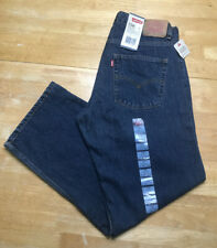 Levi's 550 Jeans Youth Boys Size 12 Husky 32x27 Relaxed Dark Wash Blue Denim NEW