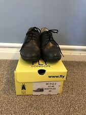 Fly London Ladies Shoes Size 7, Brogues In Black And Bronze